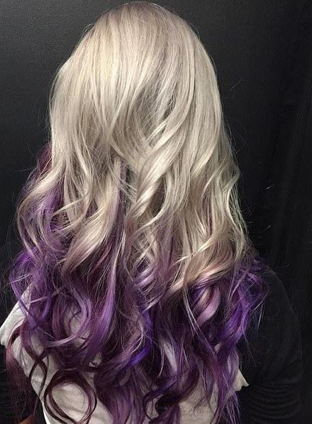 platinum blonde and purple ombre lavender ombre hair and purple ombre