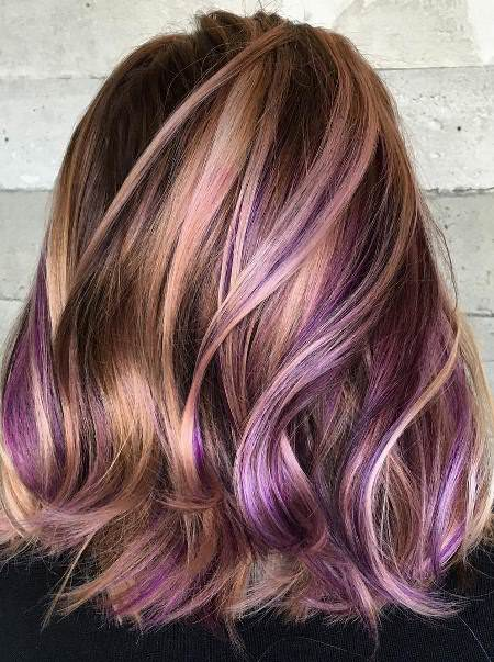 purple higlight on lavender hair lavender ombre hair and purple ombre