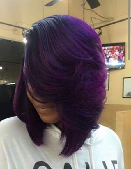 purple ombre with layer lavender ombre hair and purple ombre