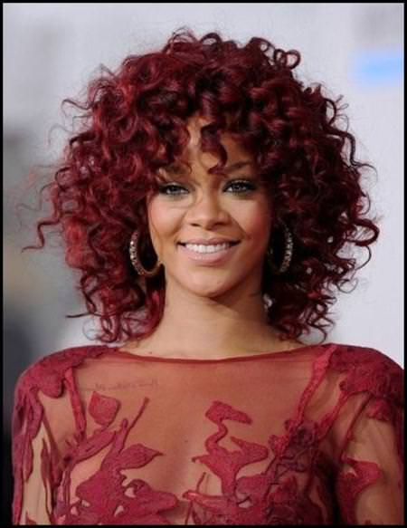 red ringlets short hairstyles for black women