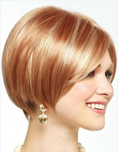sassy bob short haircuts for thick hair