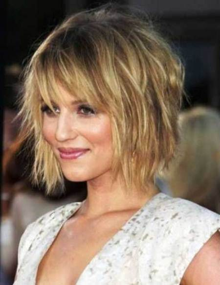 shaggy layered short bob haircuts
