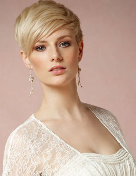 short blonde pixie short haircuts for thick hair