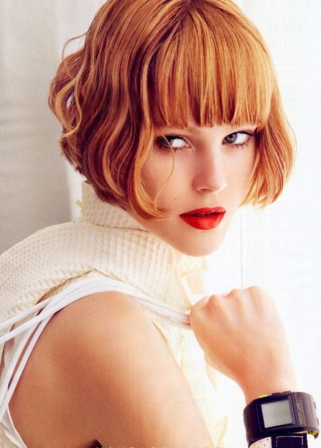 short bob with curled in ends and bangs short bob haircuts