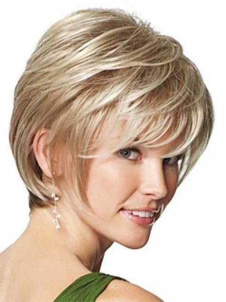 short layered short haircuts for thick hair