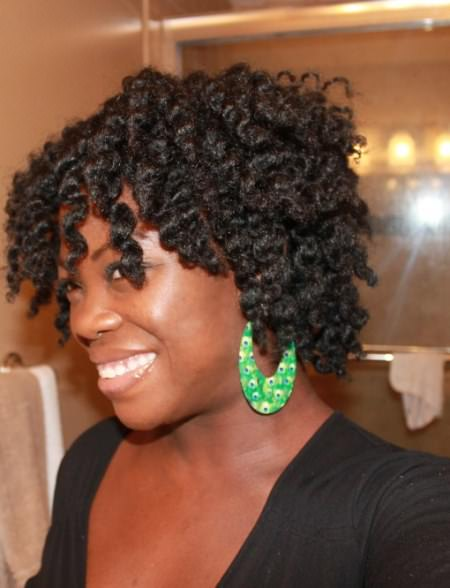 short twist out easy hairstyles for natural hair