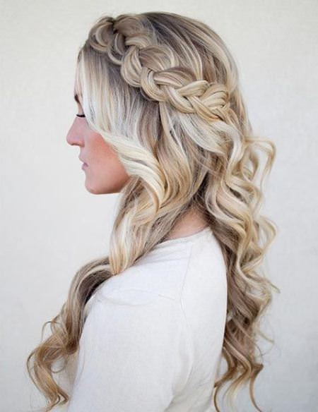 side crown braid hairstyles for women