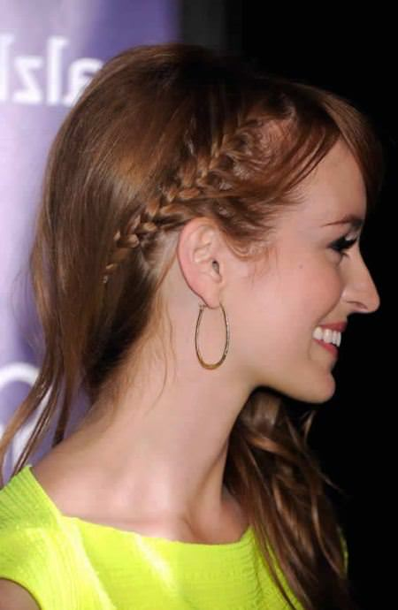 side small braids straight hairstyles