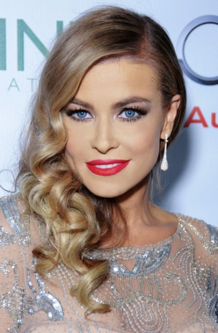 side swept curls hairstyles for women