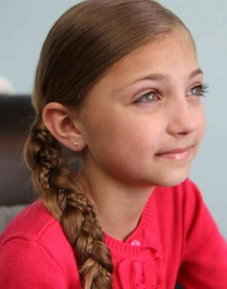 simple braids for kids with microbraid accents