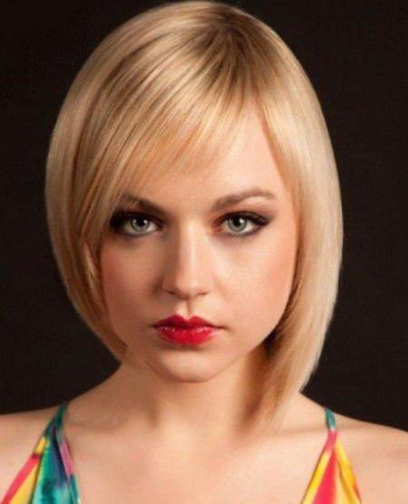 sleek asymmetric short bob haircuts