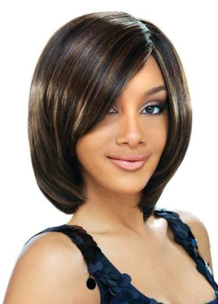 sleek bob short hairstyles for black women