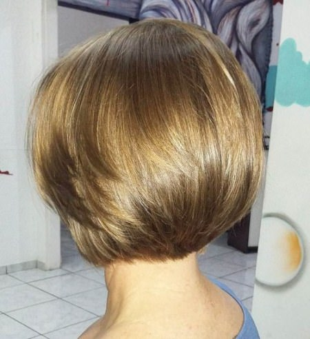 smooth bob short haircuts for thick hair