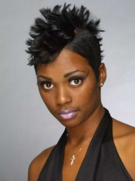 spiked mohawk black short hairstyles