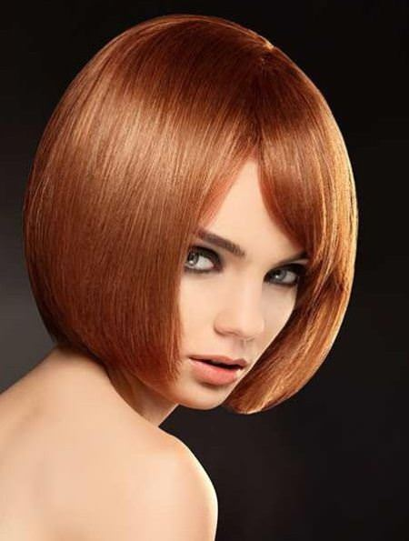 tapered auburn bob hairstyles for women