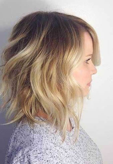 textured lob for round face long bob haircuts