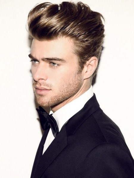 textured pompadour easy hairstyles for men