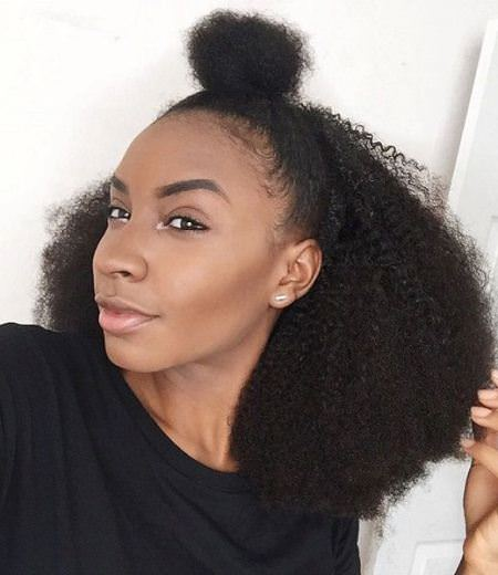top knot meet afro easy hairstyles for natural hair