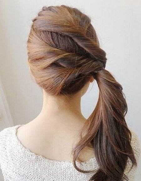 twisted side ponytail hairstyles for women