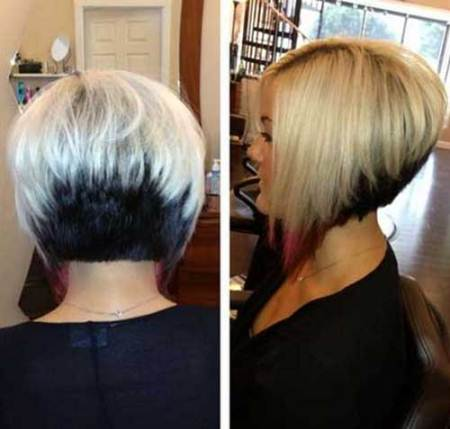 two tone short bob haircuts