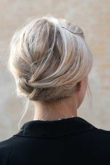 woven low bun hairstyles for women