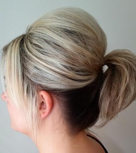 Adorable poofy pony hairstyles for thin hair