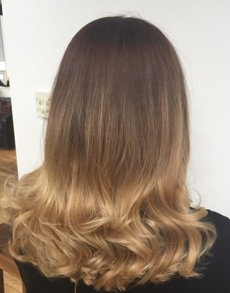 Color into curls stylish ombre straight hair