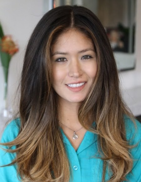 Dramatic color change ombre stylish ombre straight hair