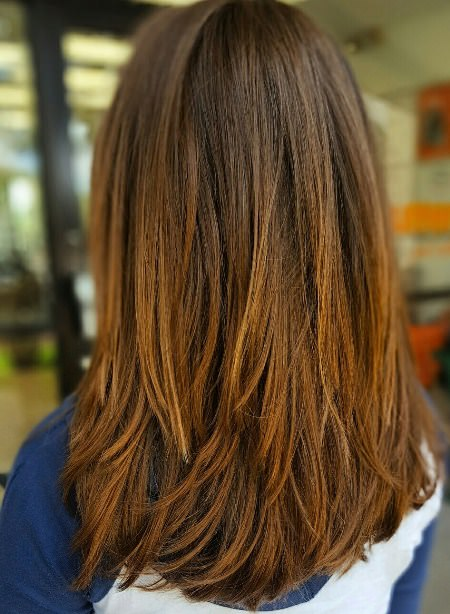 Lovely layers shades of brown hair