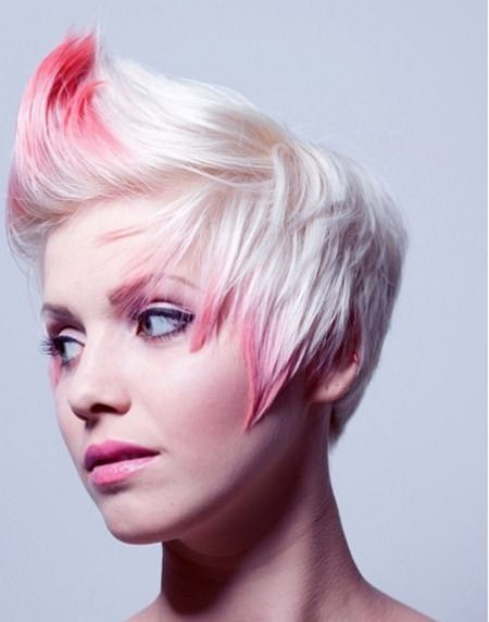 Major magenta haircuts for short spiky haircuts for women