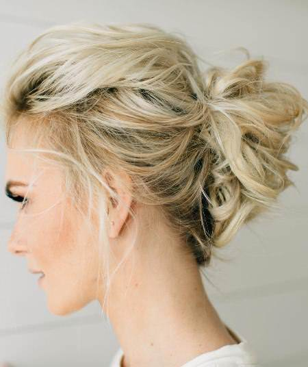 Messy updo for medium hair hairstyles for thin hair