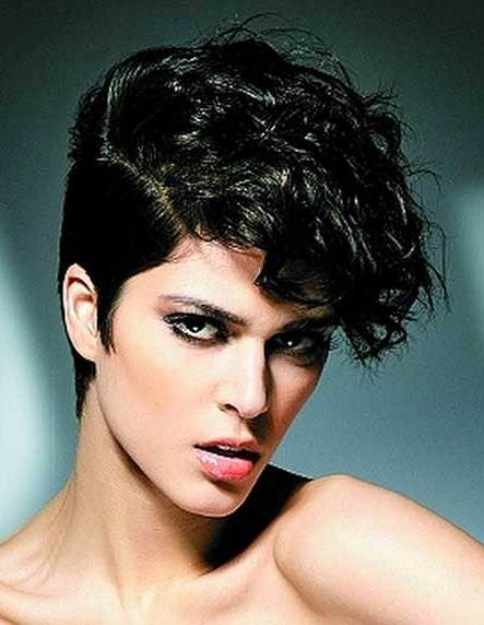 Pixie with curls natural hairstyles for short hair