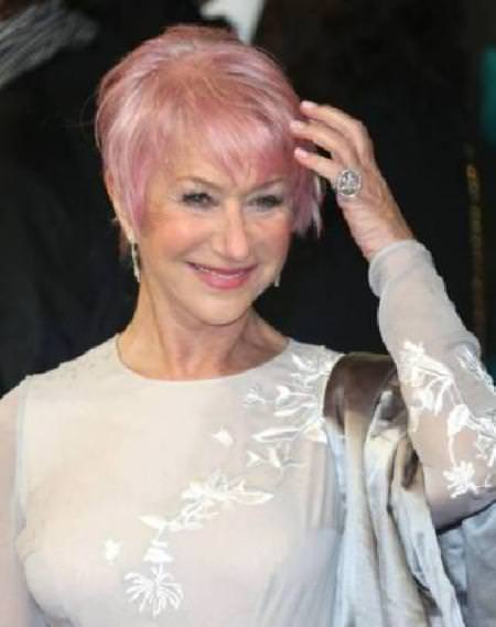 Pretty pastel pink hairstyles for older women