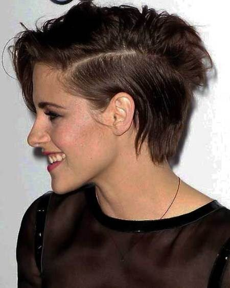 Short hairstyle with side part short haircuts for women