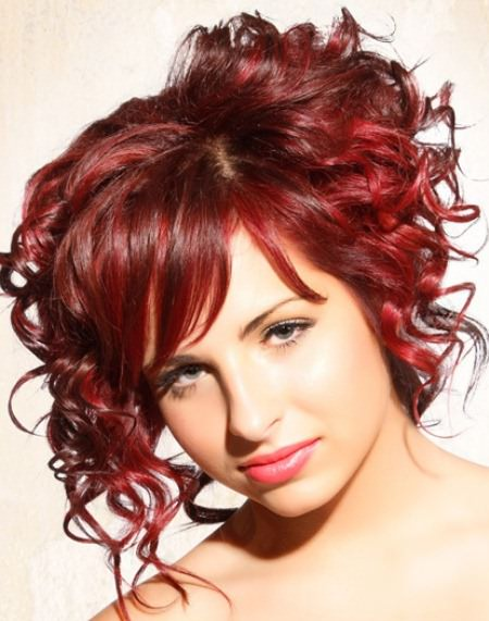 Short red natural hairstyles for short hair