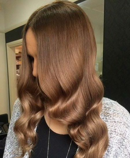 Silky and shiny shades of brown hair