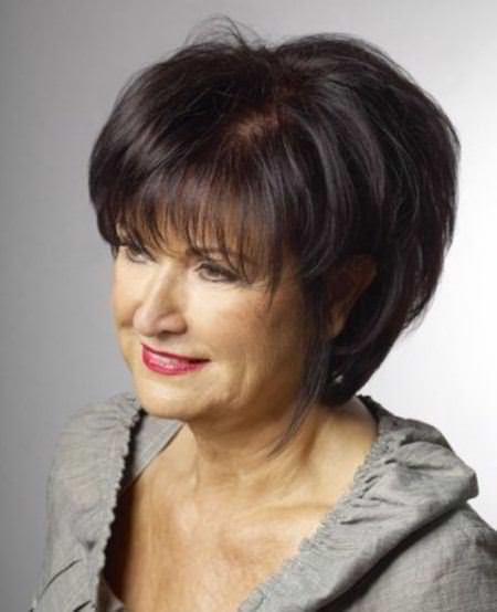 Soft tousled wave hairstyles for older women