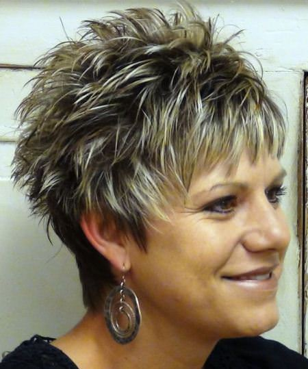 Spiked and stylish hairstyles for older women