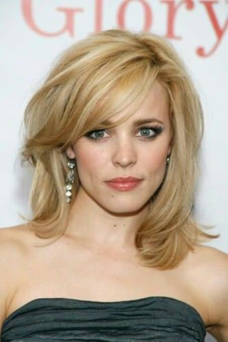 Swoopy layers medium length hairstyles for women