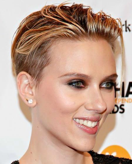 Wet look natural hairstyles for short hair