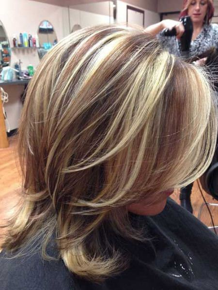 Wild layer and medium color pop medium length hairstyles for women