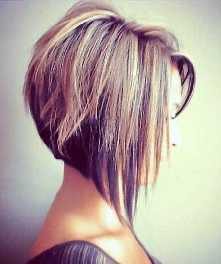 angled bob short hairstyles for thick hair