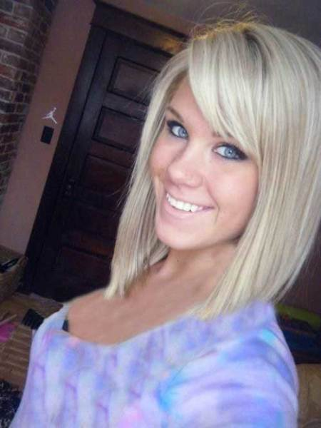 angled bob short hairstyles for women