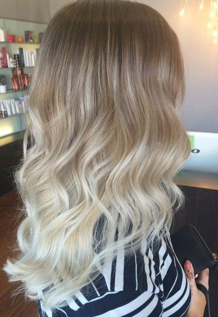 baby blonde ombre ash blonde and silver ombre