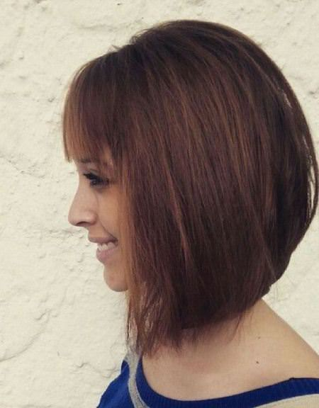 banging inverted bob haircut