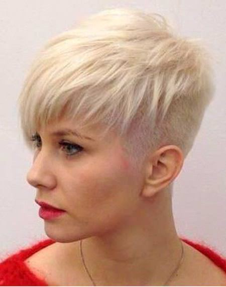 blonde pixie with design haircuts for short spiky haircuts for women