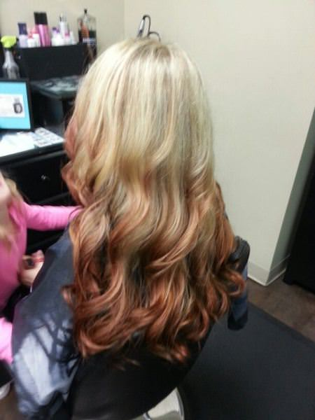 blonde to copper reverse ombre ash blonde and silver ombre