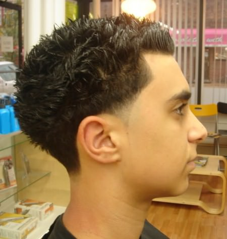 blow out short hairstyles for men