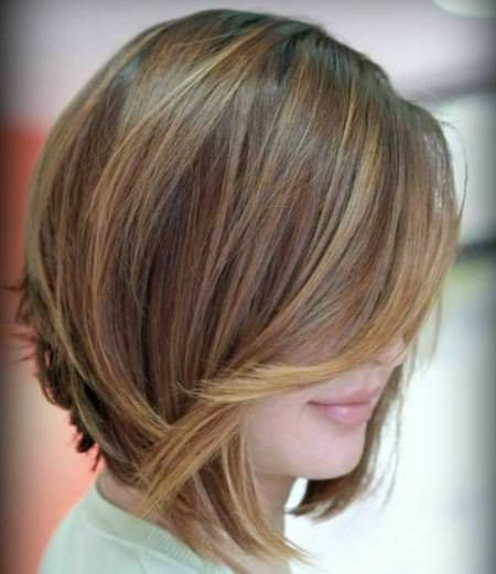 bob for thin hair with swoopy layers graduated bob haircuts