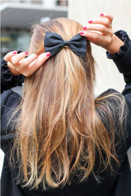 bow style christmas and new year eve hairstyles